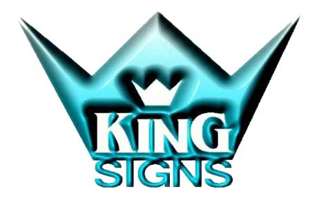 King signs logo footer