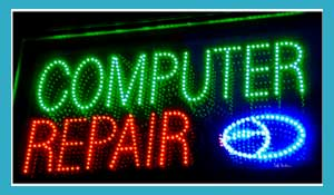 LED Business Sign Computer Repair